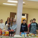 Thanksgiving boxes packed by our 7th graders for Outreach photo album thumbnail 12
